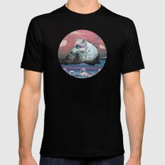 Lone Wolf LARGE Black Mens Fitted Tee