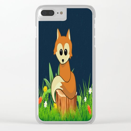 Fox Pose Clear iPhone Case