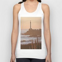 lighthouse Tank Tops featuring Lighthouse by Kim Ramage