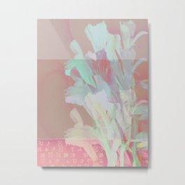Wilting Pink Metal Print