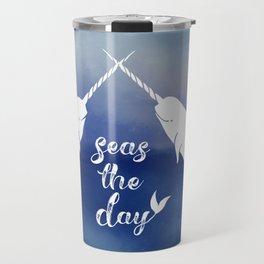 Narwhal Seas the Day Travel Mug