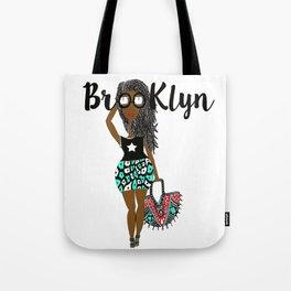 dreads has Brooklyn Glasses Tote Bag