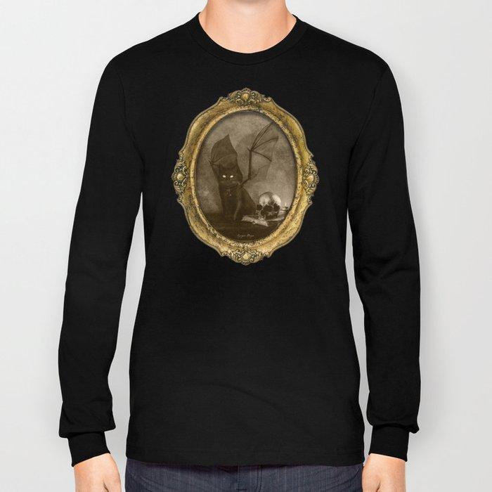 Dark Victorian Portrait: The Familiar Long Sleeve T-shirt
