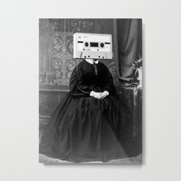 Faces of the Past: Audio Cassette Metal Print