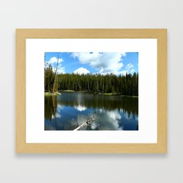 Serenity At West Gull Drive - Yellowstone National Park Framed Art Print