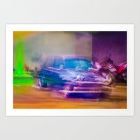 mini cooper Art Prints featuring Mini Cooper by SAAN