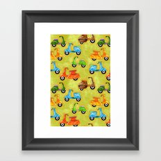 Mod Scooters Framed Art Print