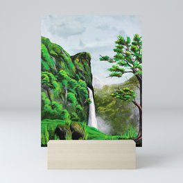 Fascinating Waterfall Mini Art Print