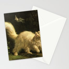 Cat in the art -Bachelier – Angora - detail Stationery Cards