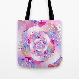 First Rose Abstract Fractal Art Tote Bag