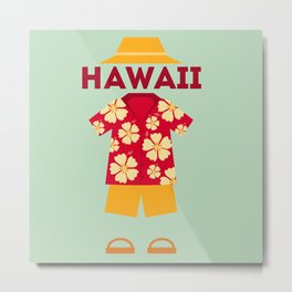 Hawaii Tourist Metal Print