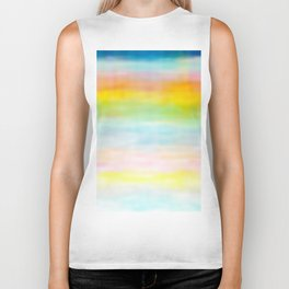 Rainbow Gradient - tie dye loved by unicorns Biker Tank