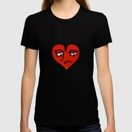 Sad Heart Drawing T-shirt