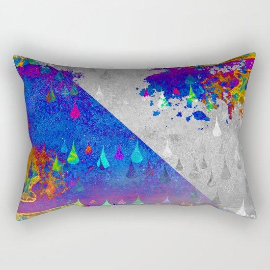 Abstract Colorful Rain Drops Design Rectangular Pillow