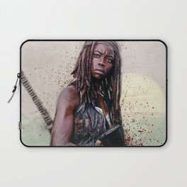 Michonne On The Walls Of Alexandria - The Walking Dead Laptop Sleeve