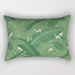 Banana Leaves - Bg Pink Blush Rectangular Pillow