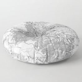 El Paso White Map Floor Pillow
