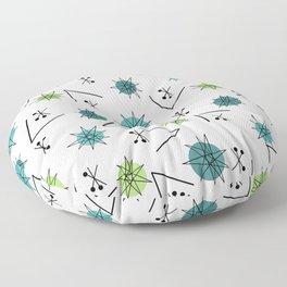 Mid Century Modern Sputnik Starburst Planets 9 Floor Pillow