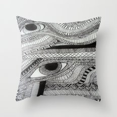 2 eyes Throw Pillow