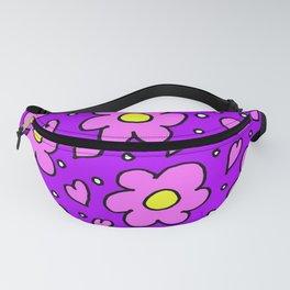 Purple Daisy Flowers Fanny Pack