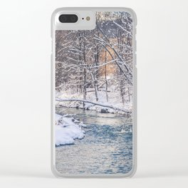 Icy Winter Creek Clear iPhone Case