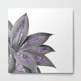 Agave Finesse Glitter Glam #11 (Faux Glitter) #tropical #decor #art #society6 Metal Print