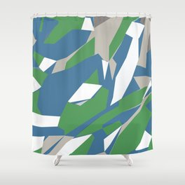 Hastings Zoom Green Shower Curtain