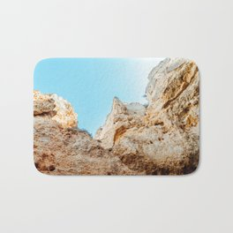 Natural Rock Formations In Lagos, Algarve Portugal, Travel Photo, Large Printable Photography Bath Mat