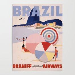 Vintage Brazil Poster Poster