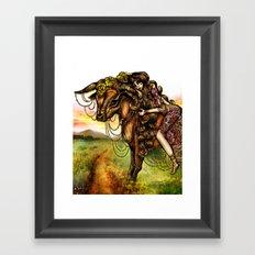 Astrology Illustration Series-Taurus Framed Art Print