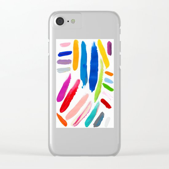 Emile Pattern Clear iPhone Case
