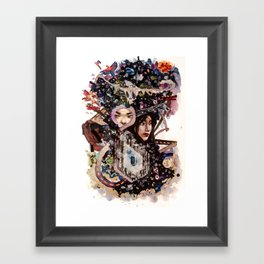 Tar Jungle Framed Art Print
