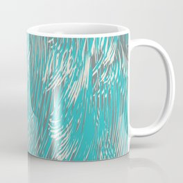 feathered lines in teal Coffee Mug