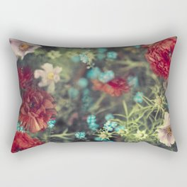 Spring Message - Colourful Flowers Rectangular Pillow
