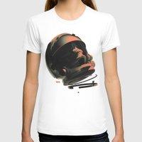 noir T-shirts featuring Space Skull Noir by Alex DiMella