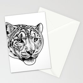 Big cat - Snow Leopard Stationery Cards