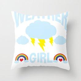 Meteorologist Weather Girl Meteorology Women Gift Throw Pillow