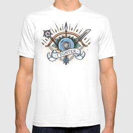 Fighter - Vintage D&D Tattoo T-shirt