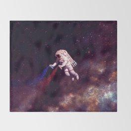 """Shooting Stars"" - Astronaut Artist Throw Blanket"