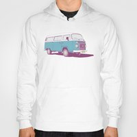 vw bus Hoodies featuring VW Combi v.02 by CranioDsgn