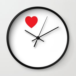 I Love My Girlfriend but My Wife Hates Her T-Shirt Wall Clock