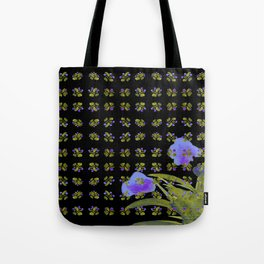 Atom Flowers #34 in purple and green Tote Bag