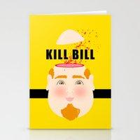 kill bill Stationery Cards featuring Kill Bill by Frikaditas T-Shirts