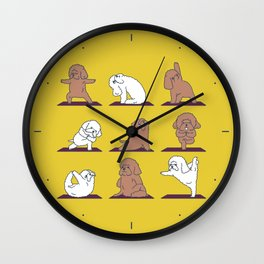 Poodle Yoga Wall Clock