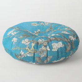 Vincent van Gogh Blossoming Almond Tree (Almond Blossoms) Medium Blue Floor Pillow