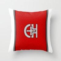 switzerland Throw Pillows featuring Glassy Switzerland by matthieugissler