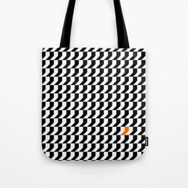 Orange: Black And White Pattern Tote Bag