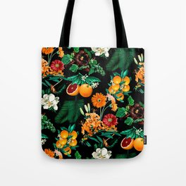 Fruit and Floral Pattern Tote Bag