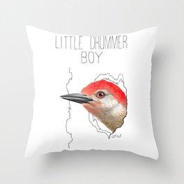 Little Drummer Boy (Red-bellied Woodpecker) Throw Pillow