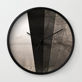 Grey Textured rays Wall Clock